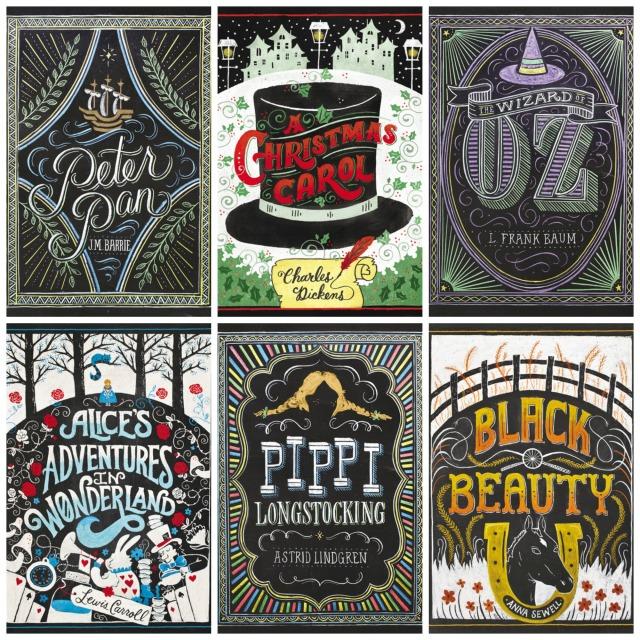 Puffin Chalk Collage
