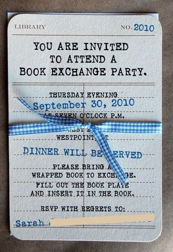 Book Exchange Invitation